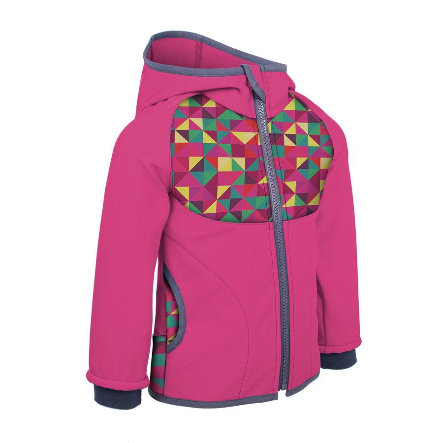 Růžová softshellová dívčí bunda Unuo - velikost 128