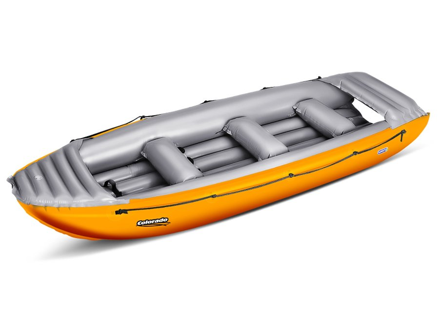 Žlutý nafukovací člun s nafukovacím dnem pro 5 osob Colorado, Gumotex