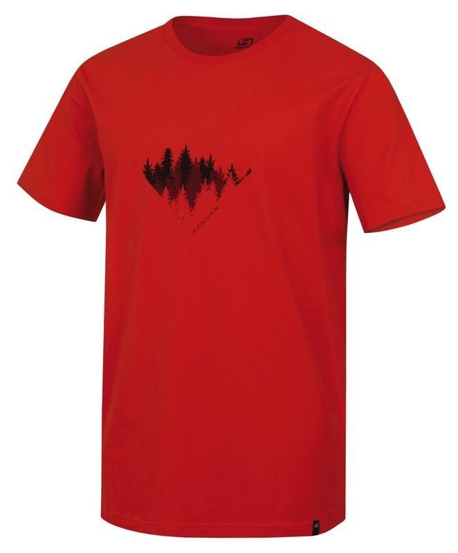 Červené pánské tričko s krátkým rukávem Hannah - velikost 3XL
