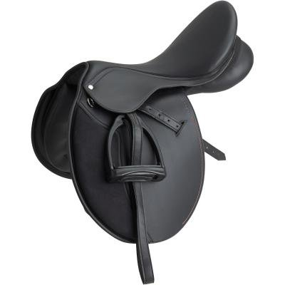 Černé sedlo na koně Fouganza
