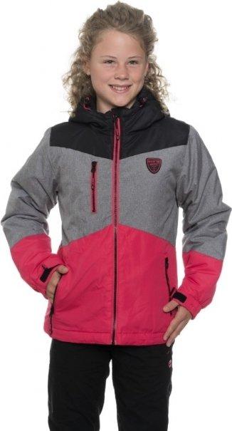 Růžová zimní dívčí bunda s kapucí Sam 73 - velikost 140