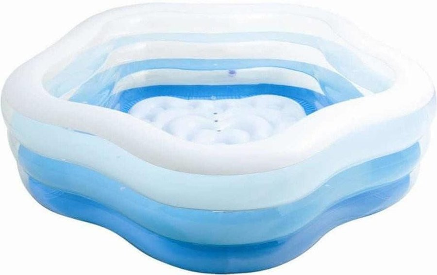 Dětský nafukovací nadzemní pětiúhelníkový bazén INTEX - délka 185 cm, šířka 180 cm a výška 53 cm