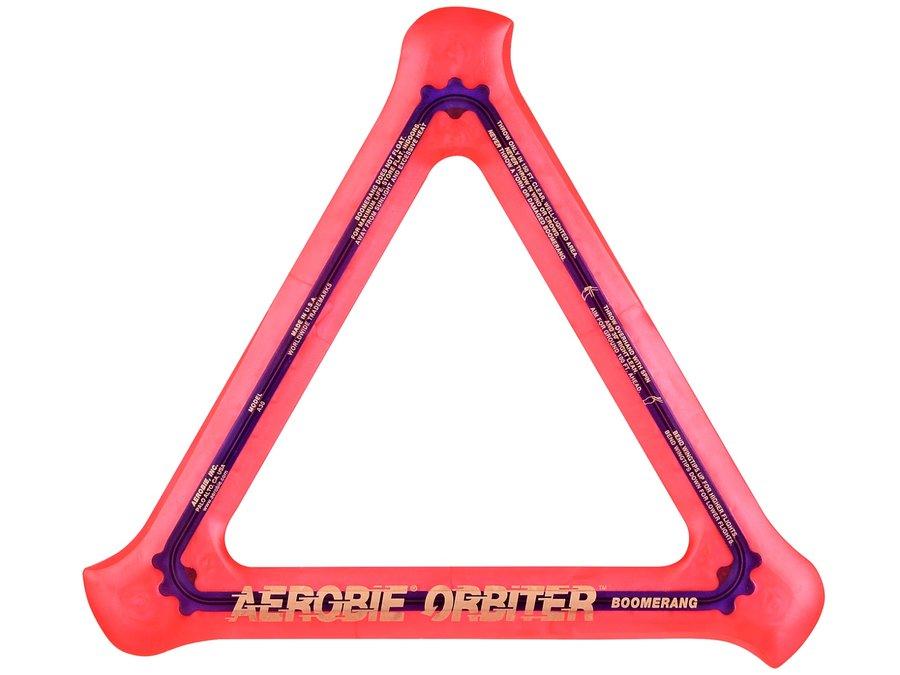 Oranžový polykarbonátový bumerang Orbiter, Aerobie