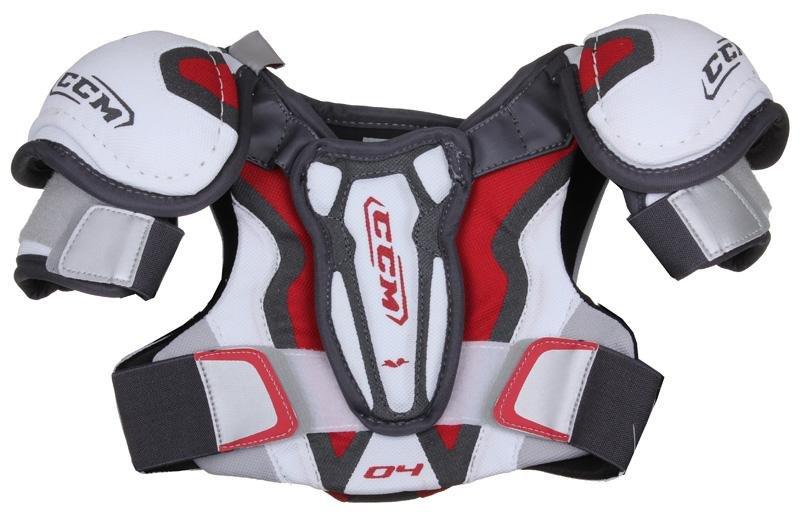 Bílý hokejový chránič ramen - youth CCM - velikost S