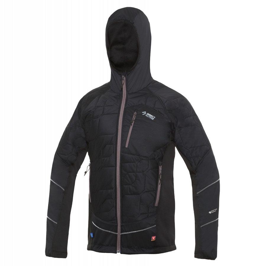 Černá zimní pánská bunda s kapucí Direct Alpine - velikost M