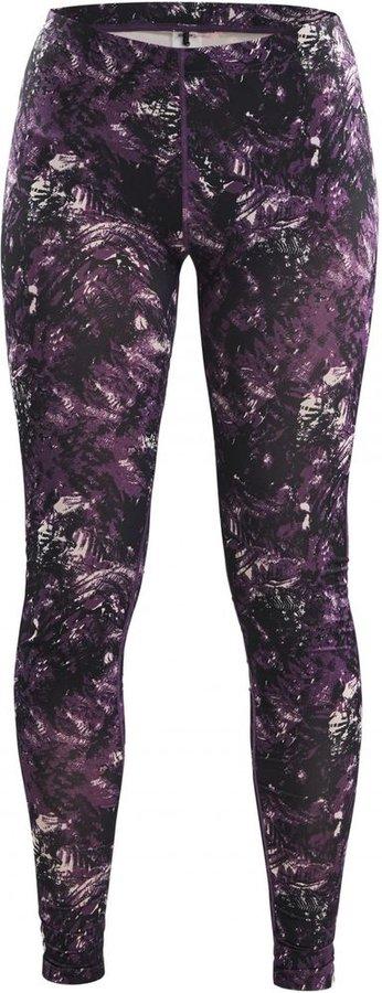 Černo-fialové dámské běžecké legíny Craft - velikost S