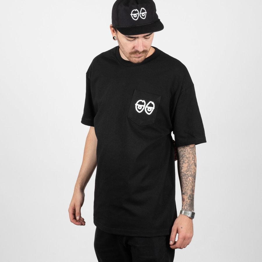 Černé pánské tričko s krátkým rukávem Krooked