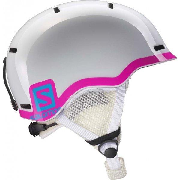 Bílá dětská lyžařská helma Salomon - velikost 53-56 cm