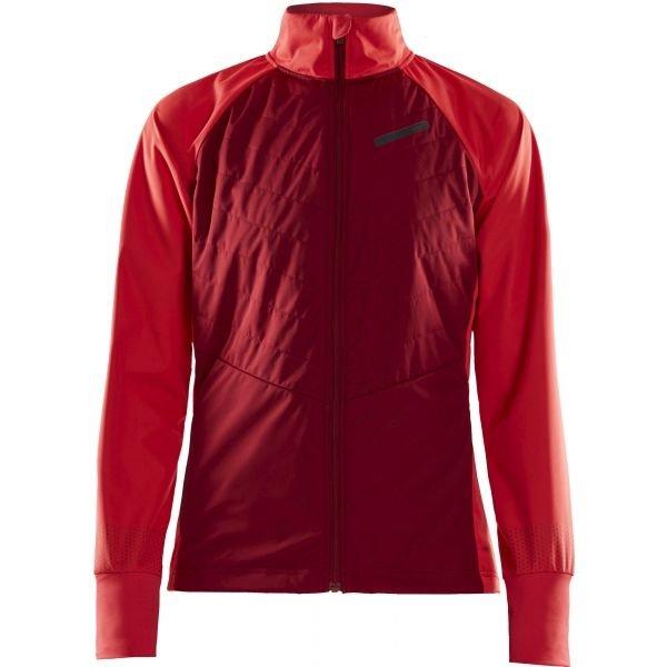 Červená dámská bunda na běžky bez kapuce Craft