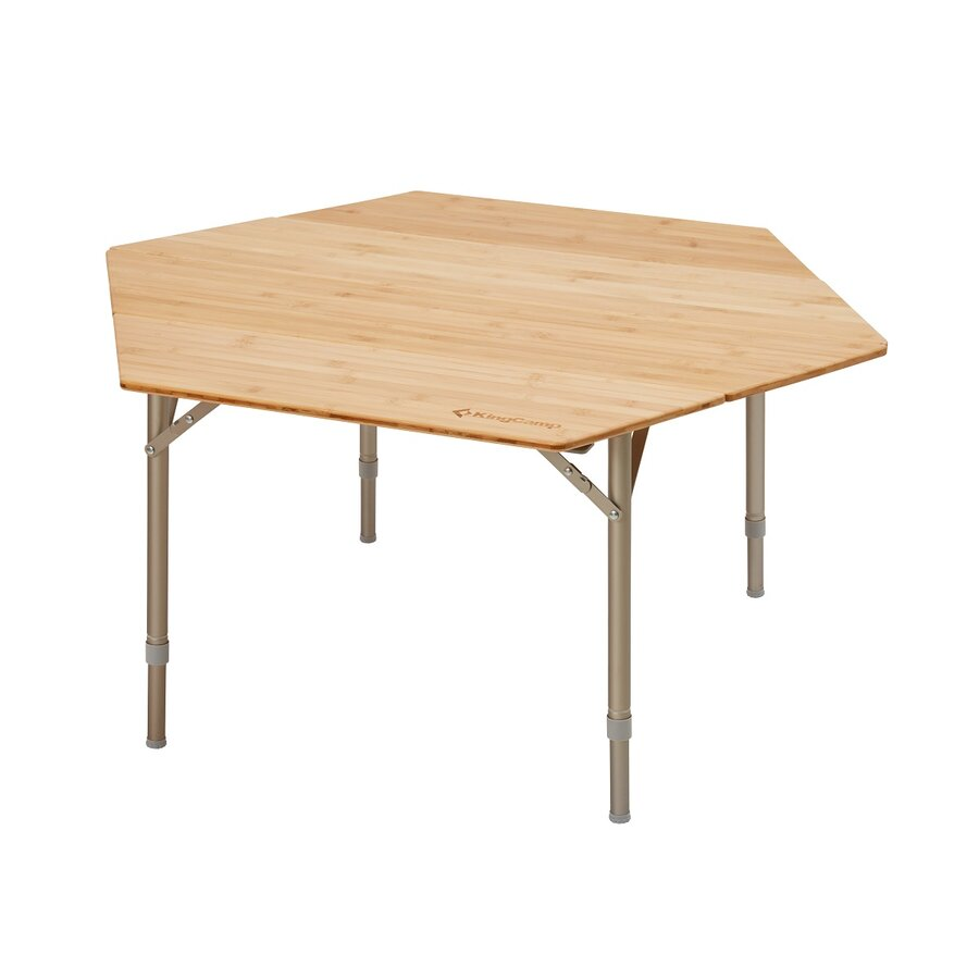 Kempingový stůl - Kemping stůl KING CAMP Bamboo Color šestihranný