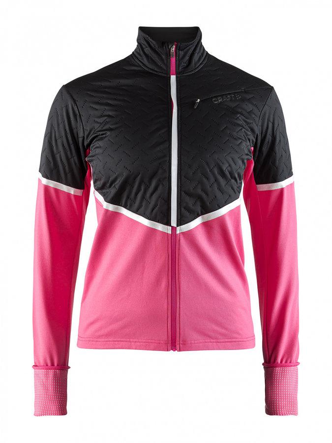Černo-růžová dámská běžecká bunda Urban Thermal Wind, Craft - velikost L