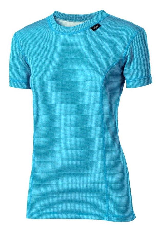 Bílé dámské funkční tričko s krátkým rukávem Progress - velikost XL