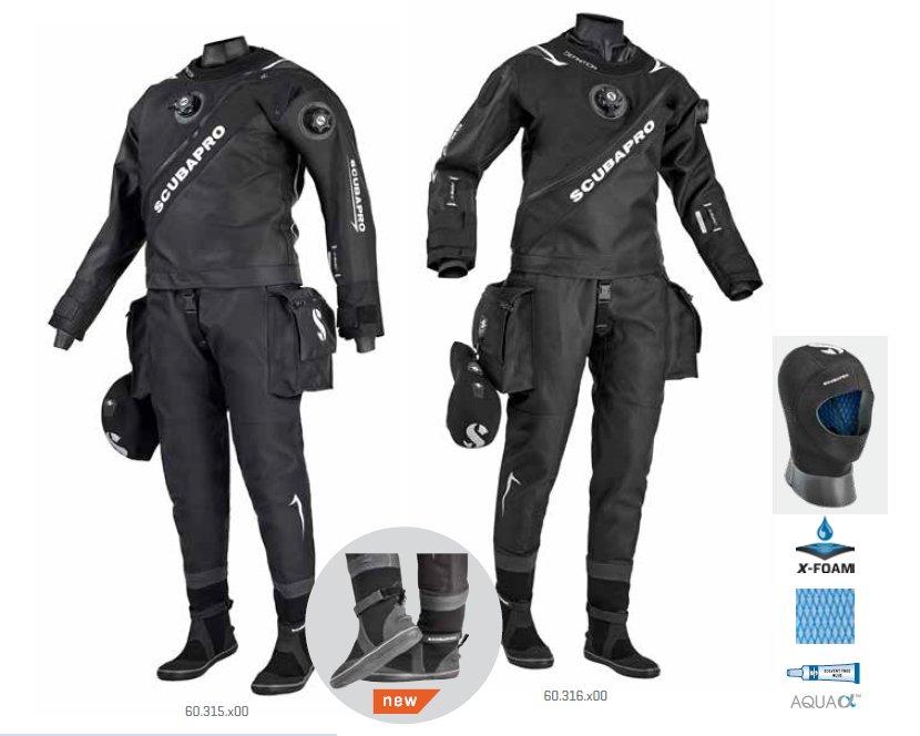 Suchý oblek - Oblek suchý DEFINITION DRY HD - MAN - ScubaPro, S/48