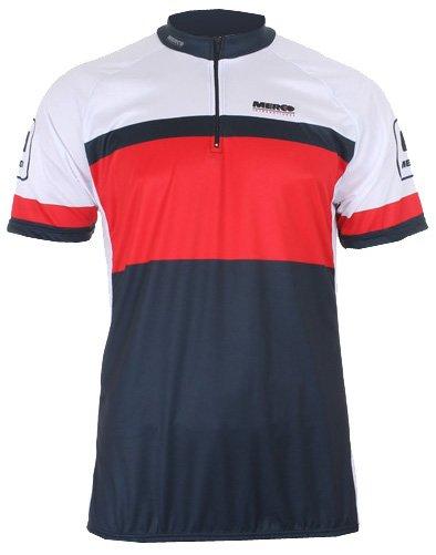 Bílý pánský nebo dámský cyklistický dres Merco - velikost L