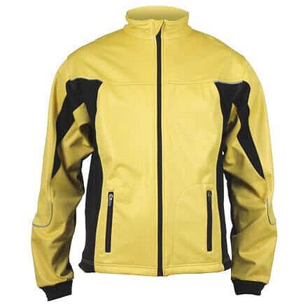 Černo-žlutá dámská bunda na běžky Merco - velikost L