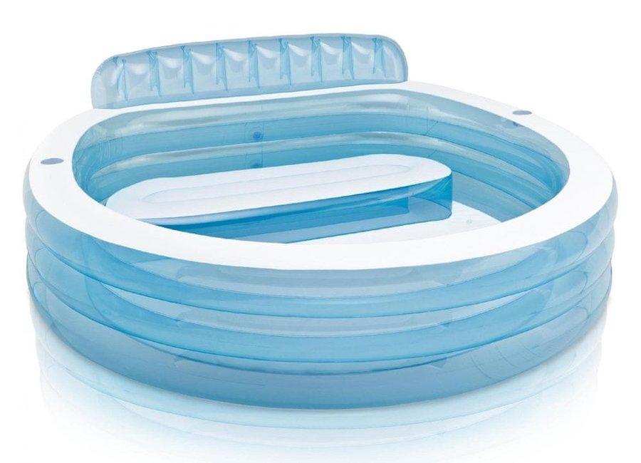 Dětský nafukovací nadzemní oválný bazén INTEX - délka 229 cm, šířka 218 cm a výška 79 cm
