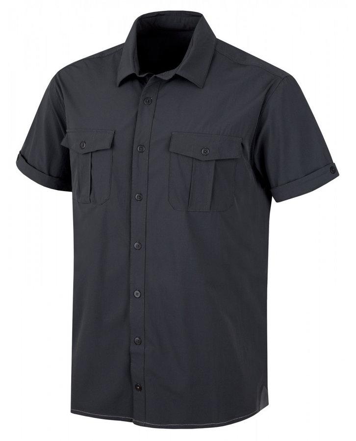 Šedá pánská košile s krátkým rukávem Husky - velikost M