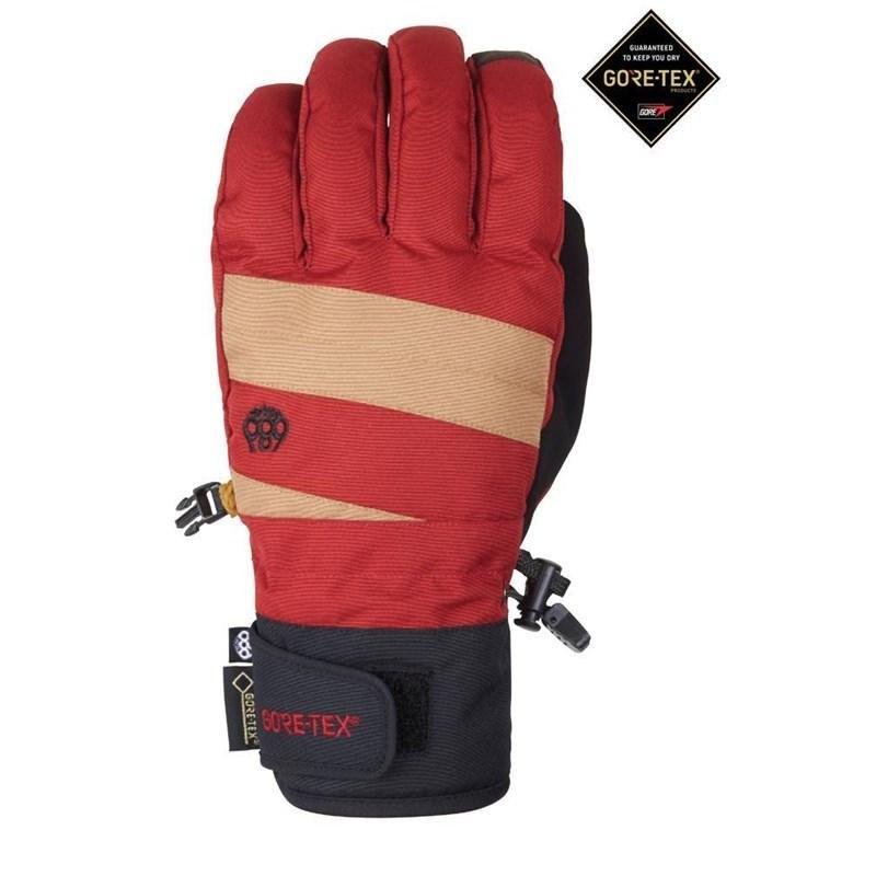 Červené pánské lyžařské rukavice 686 - velikost M