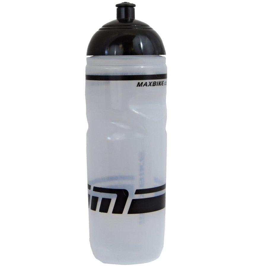 Transparentní cyklistická láhev na pití Maxbike - objem 0,8 l