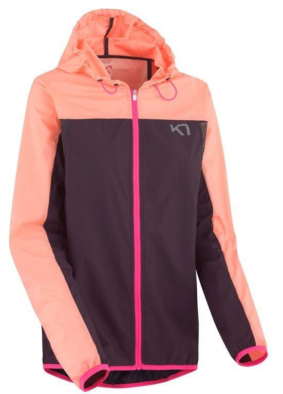 Růžová dámská běžecká bunda s kapucí Marte Jacket, Kari Traa