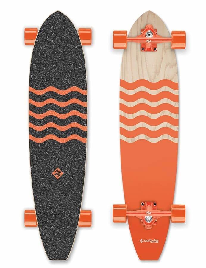 """Longboard - Longboard Street Surfing CUT KICKTAIL 36"""" Blown Out"""