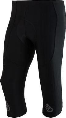 Černé 3/4 pánské cyklistické kalhoty s vložkou Sensor