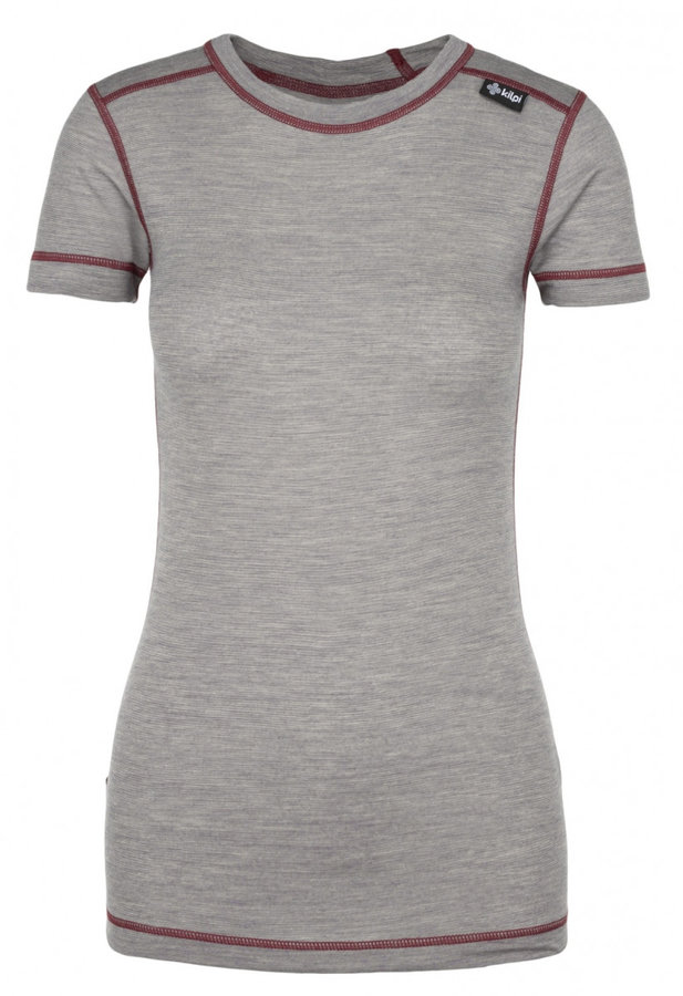 Šedé dámské funkční tričko s krátkým rukávem Kilpi
