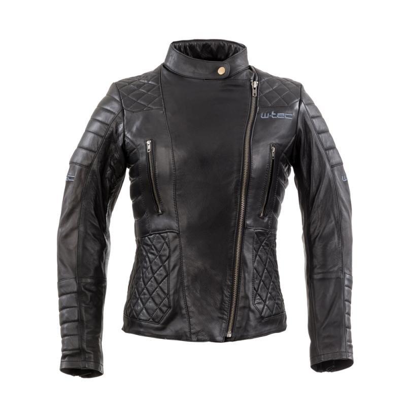 Černá dámská motorkářská bunda Corallia, W-TEC