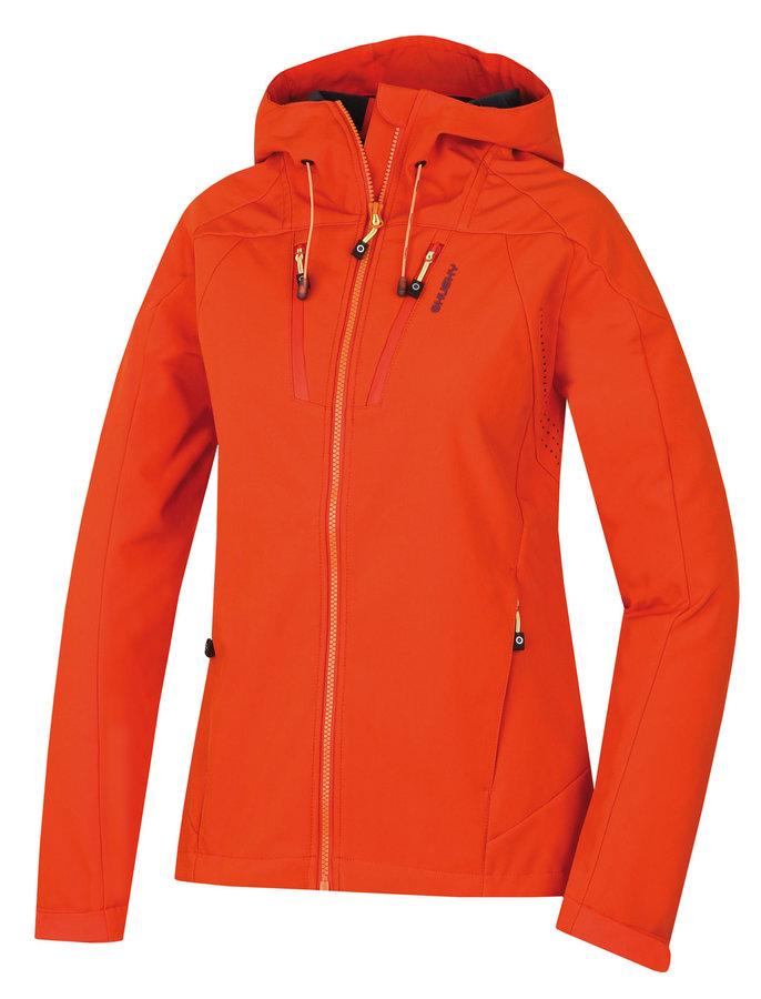 Oranžová softshellová dámská bunda Husky - velikost M