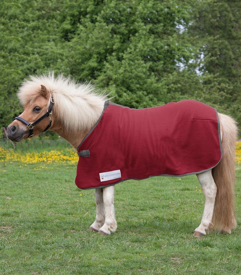 Deka na koně - ODPOCOVACÍ DEKA FLEECOVÁ ECONOMIC WALDHAUSEN RUST RED Velikost: 135cm Deky pro koně