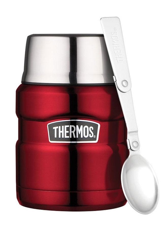 Černo-červená termoska na jídlo Thermos - objem 0,47 l