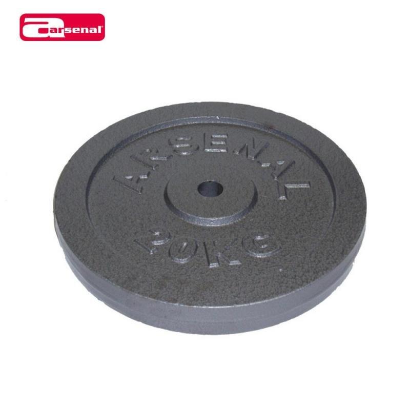 Kotouč na činky - ARSENAL kotouč litinový 20 kg, otvor 25mm