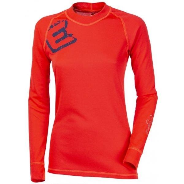 Červené dámské funkční tričko s dlouhým rukávem Progress