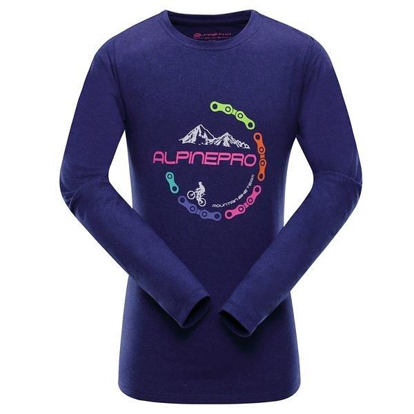 Modré dětské tričko s dlouhým rukávem Alpine Pro