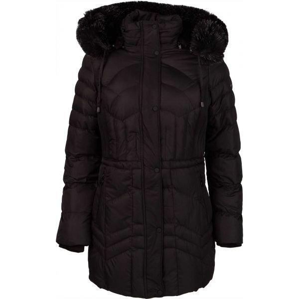 Černý prošívaný dámský kabát NorthFinder