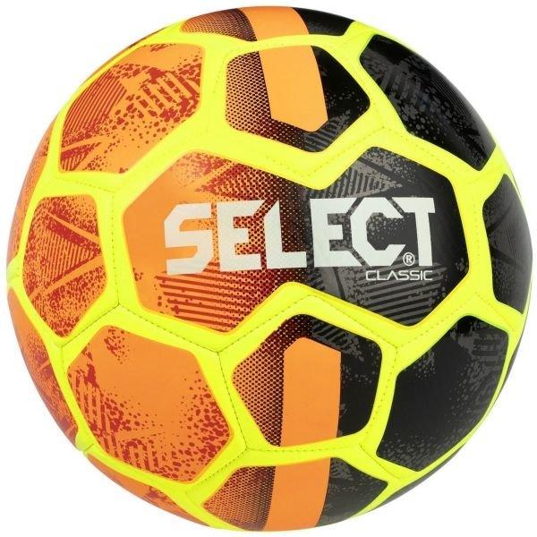 Černo-oranžový fotbalový míč Select