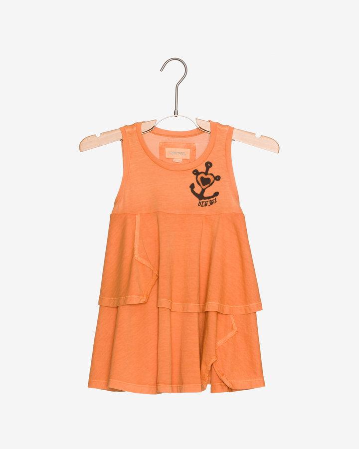 Oranžové dívčí šaty Diesel