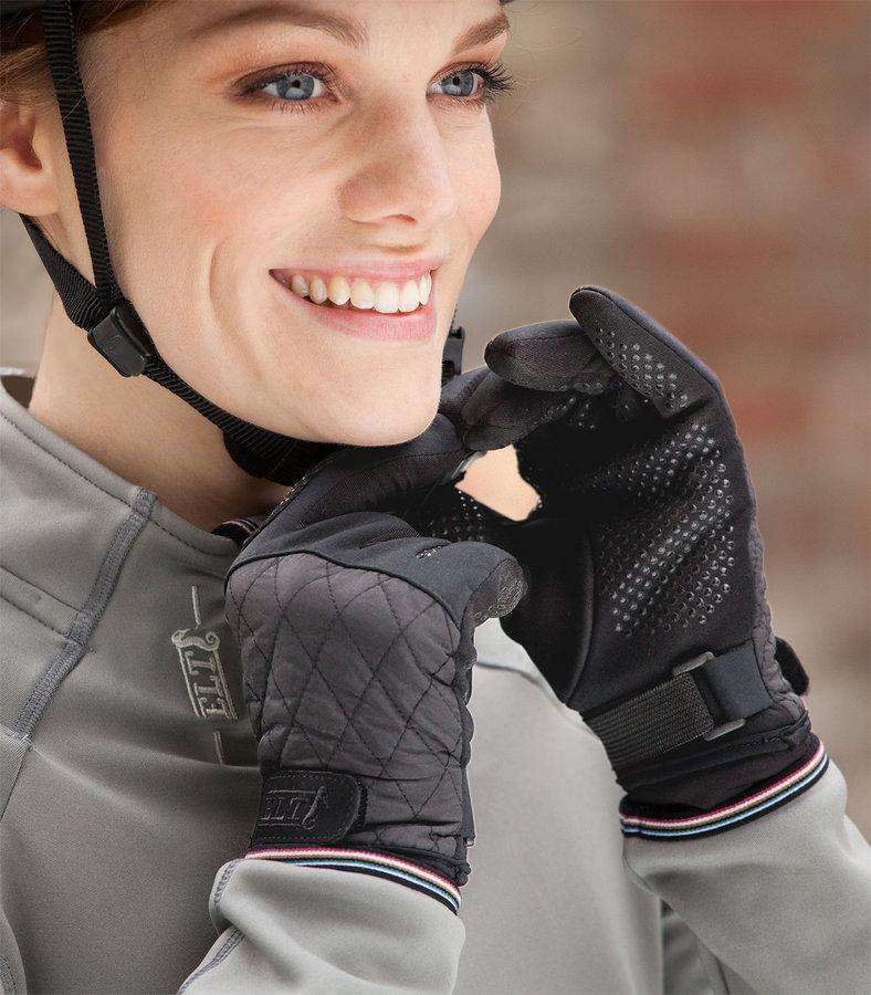 Černé jezdecké rukavice JULIKA, ELT