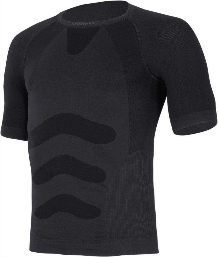 Modré termo pánské termo tričko s krátkým rukávem Lasting - velikost S-M