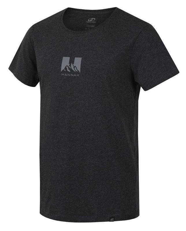 Černé pánské tričko s krátkým rukávem Hannah - velikost 3XL