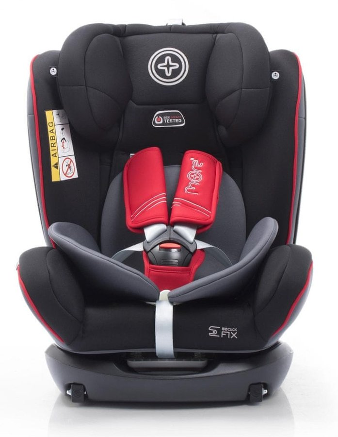 Černo-červená dětská autosedačka More - nosnost 36 kg