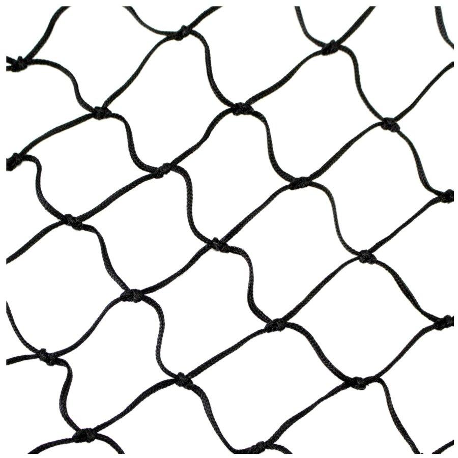 Černá florbalová síť Sedco - šířka 90 cm a výška 60 cm