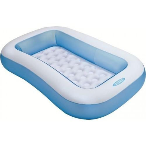 Nadzemní nafukovací dětský obdélníkový bazén INTEX - délka 166 cm, šířka 100 cm a výška 28 cm