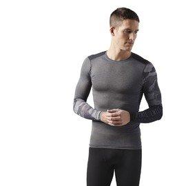 Šedé pánské tričko s dlouhým rukávem Reebok