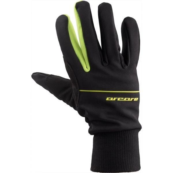 Černo-zelené rukavice na běžky Arcore