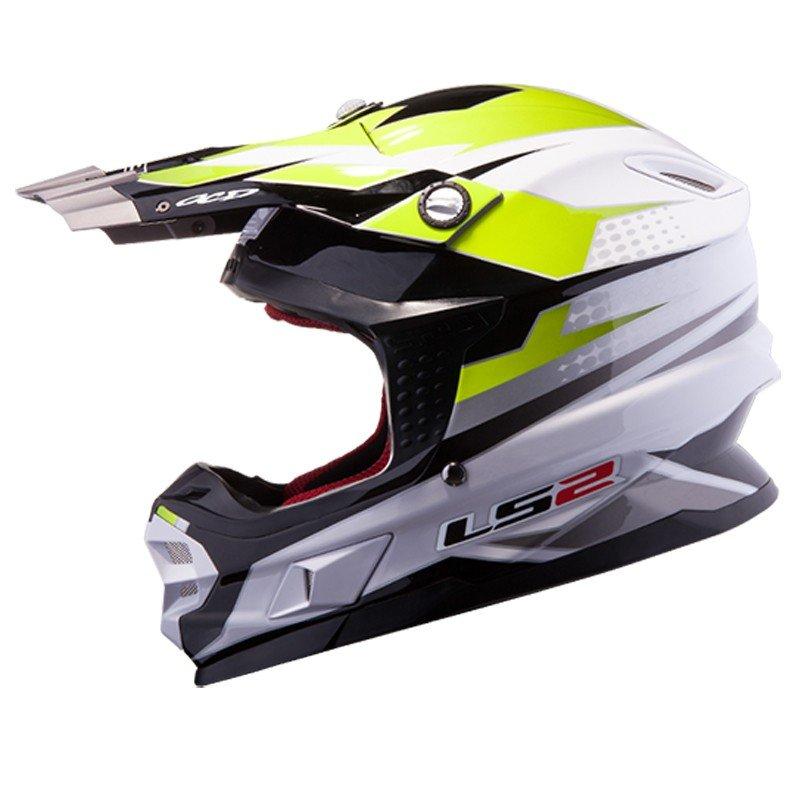Černo-žlutá unisex helma na motorku MX456 Light Factory, LS2