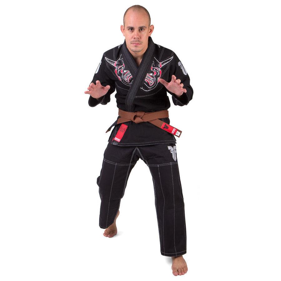 Černé kimono na jiu-jitsu Fighter - velikost 162