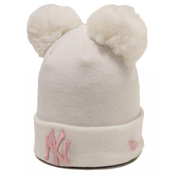 Bílá dámská zimní čepice New Era - univerzální velikost