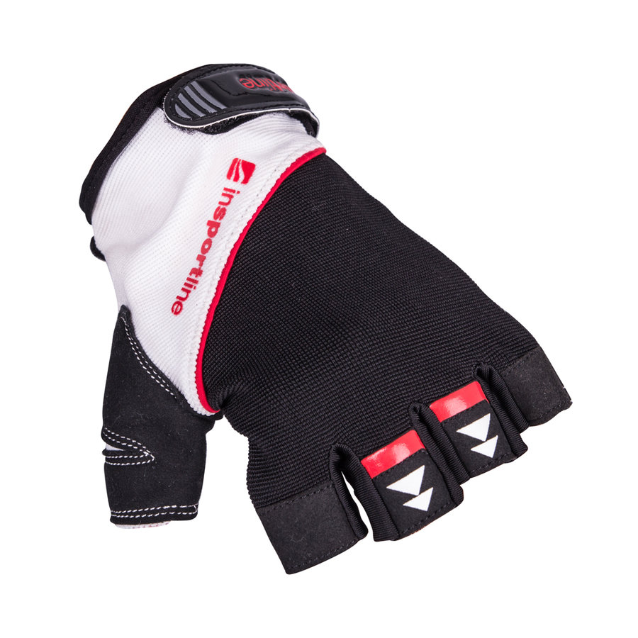 Bílo-černé fitness rukavice inSPORTline