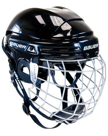 Hokejová helma - Helma Bauer 2100 Combo junior červená